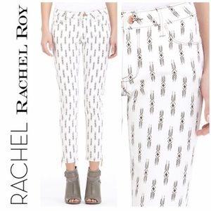 RACHEL ROY Aztec Print Stretch Skinny Jeans-28